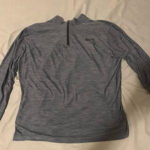 Zip up long sleeve nike shirt